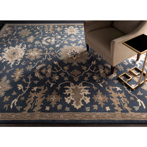 Caesar Navy & Tan Area Rug