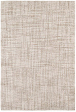 Load image into Gallery viewer, Crosshatch Ivory Micro Hooked Wool Rug