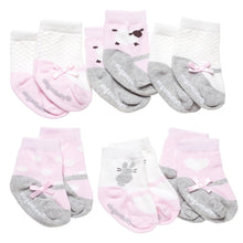 Load image into Gallery viewer, Pink & Blue Cutie Cotton Baby Socks - 6 Pack