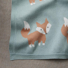 Load image into Gallery viewer, Fox Knit Baby Blanket