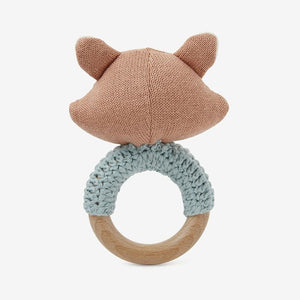Fifi Fawn & Felix Fox Knit Baby Ring Rattles