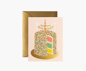Layer Cake Birthday Greeting Card