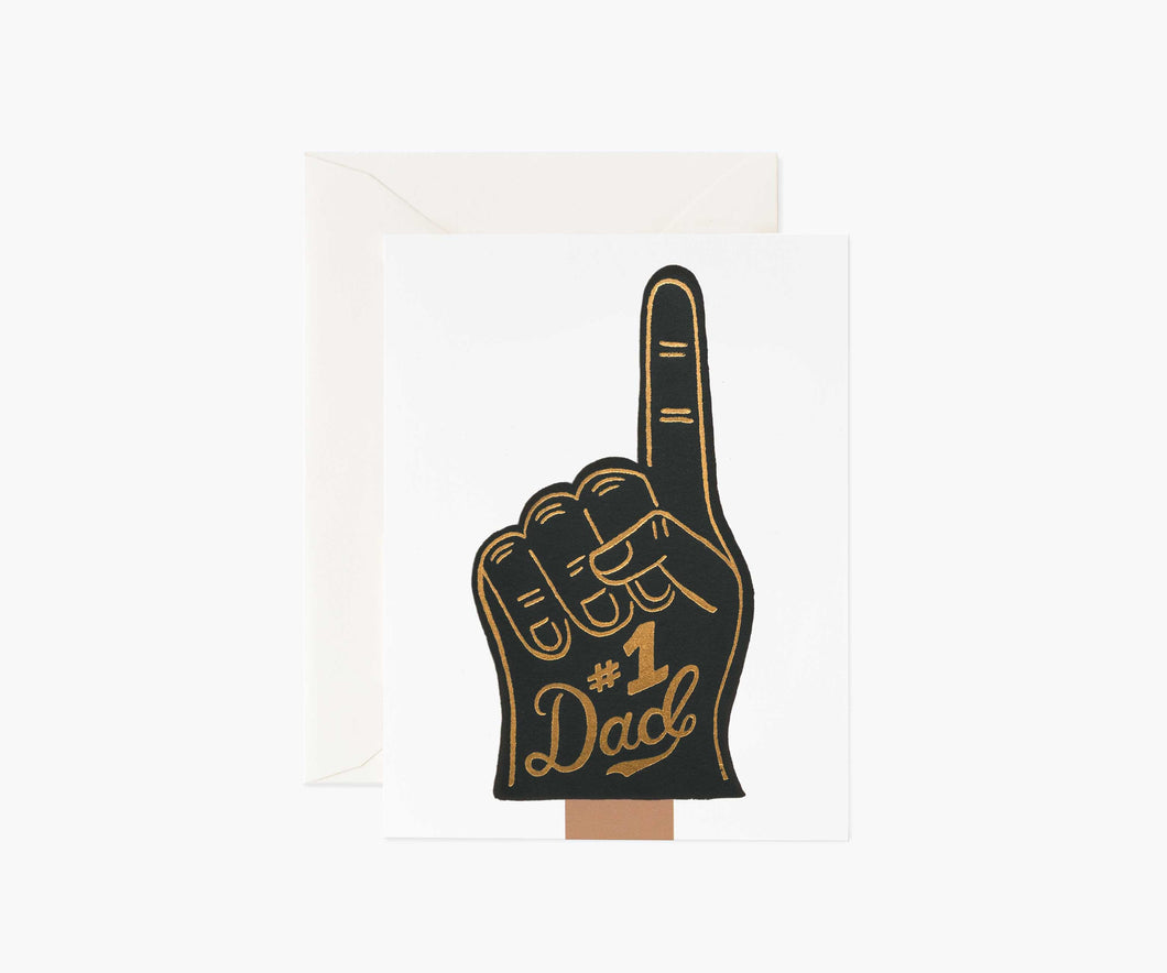 #1 Dad Father's Day Greeting Card