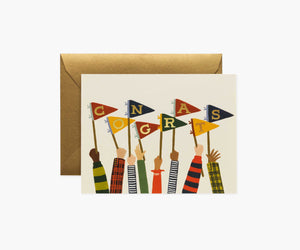 Congrats Pennants Graduation Greeting Card