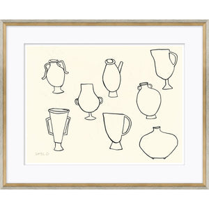 Artifacts Glass Framed Print