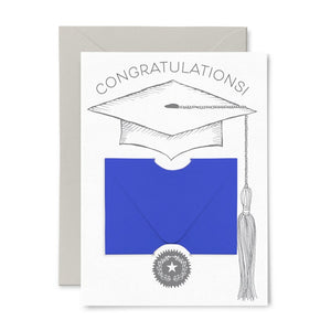 Graduation Cap Gift Card Holder Greeting Card