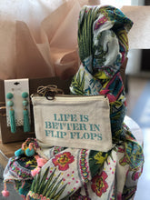 Load image into Gallery viewer, Life is Better in Flip Flops Gift Package Bundle