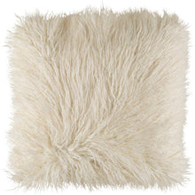 Load image into Gallery viewer, Faux Fur Pillows: White, Khaki & Blush