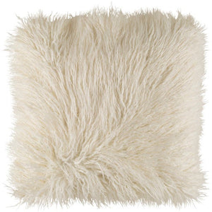 Faux Fur Pillows: White, Khaki & Blush