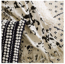 Load image into Gallery viewer, Kipling Ivory/Black Throw
