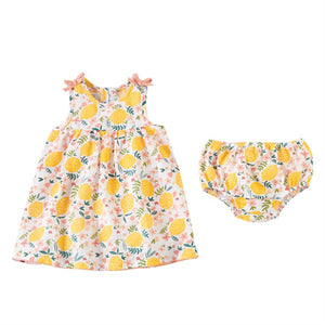 Lemon Floral Infant Dress Set