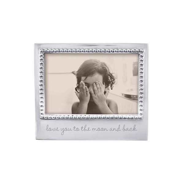 Love You To The Moon Beaded Engraved 4x6 Frame by Mariposa