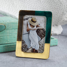 Load image into Gallery viewer, Malachite Green and Brown Photo Frame - 4x6