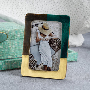 Malachite Green and Brown Photo Frame - 4x6