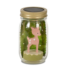 Load image into Gallery viewer, Mason Jar Solar Lights - Fawn & Bird