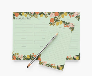 Citrus Floral Weekly Meal Planner