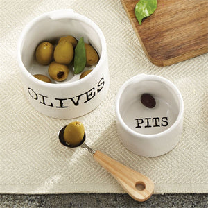Olive & Pits  Bowl Set