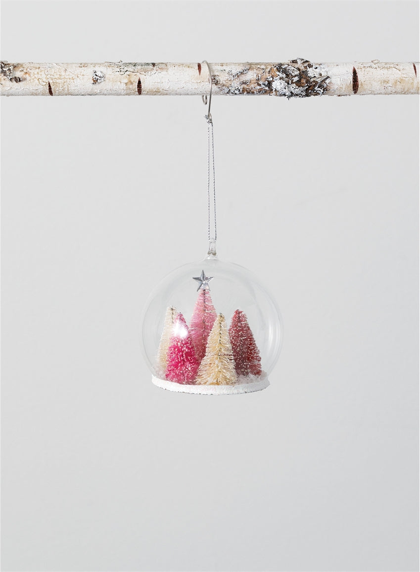 Pink Tree Ball Ornament