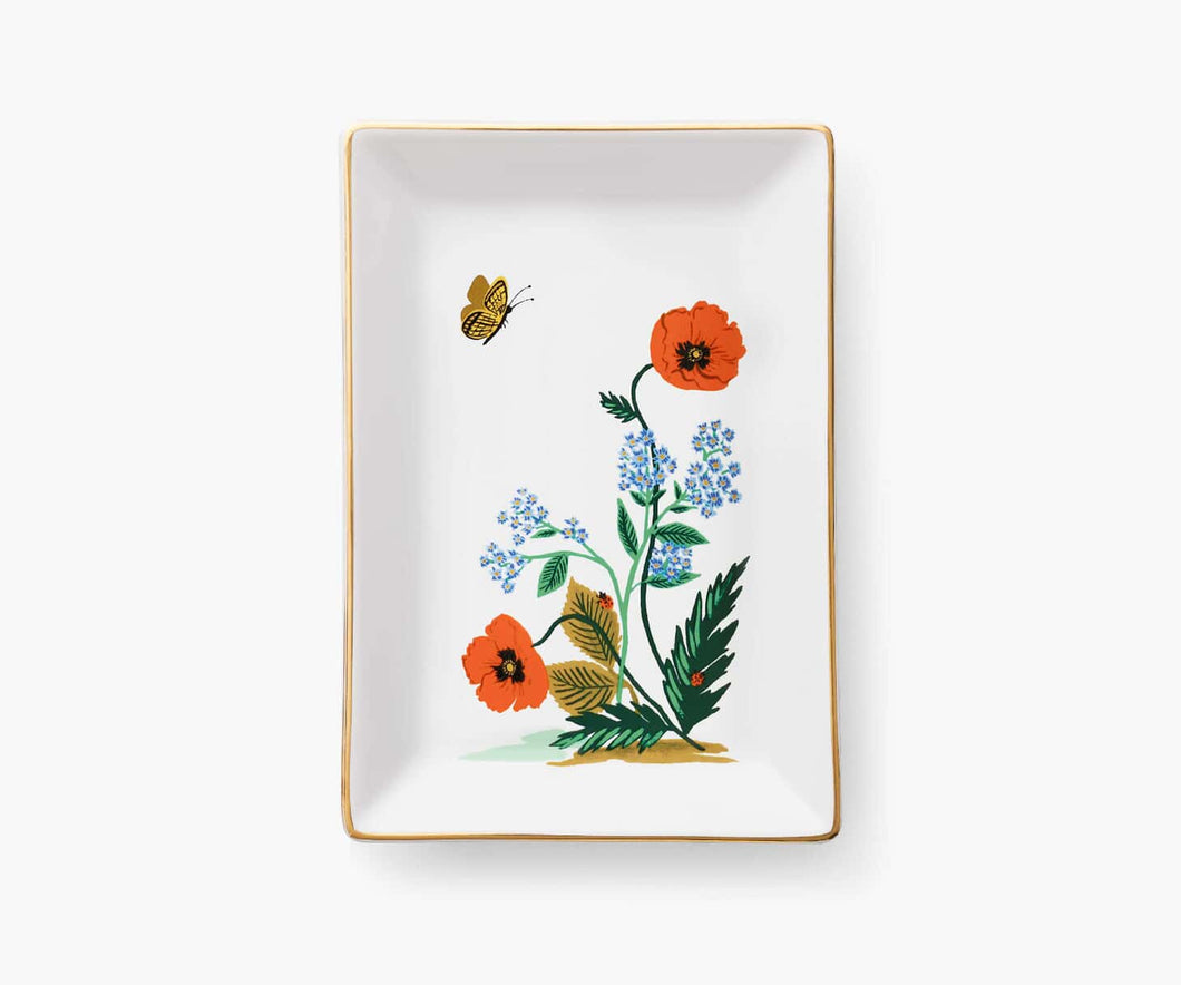 Poppy Botanical Catchall Tray