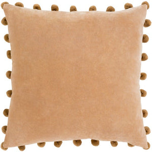 "20"" Cotton Velvet Throw Pillows Camel & Sage"