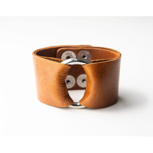 Classic Brown Wide Leather Cuff