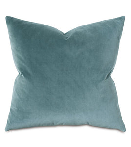 Uma Velvet Decorative Pillow in Teal, Pink, Charcoal, Gold & Gray