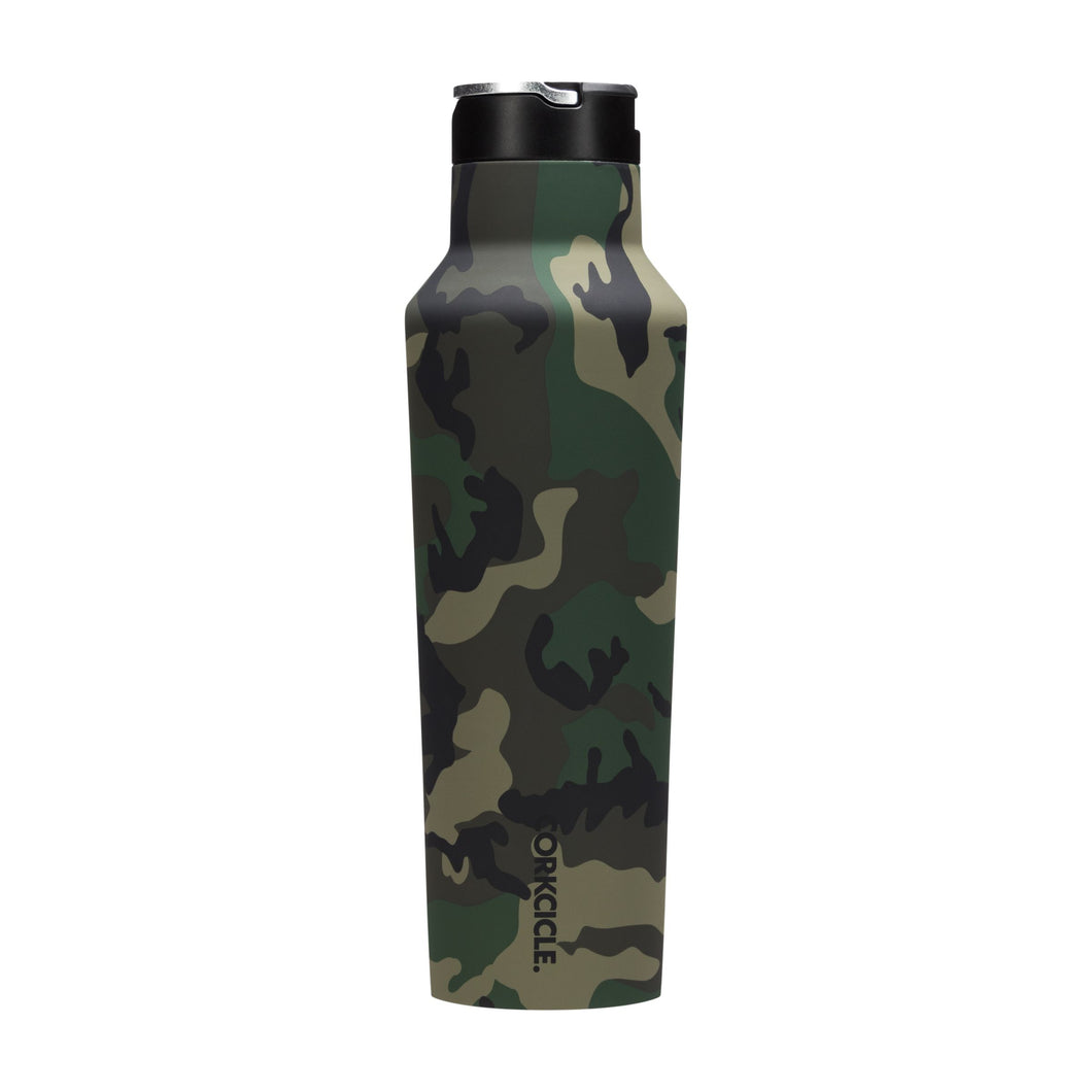 NEW! Corkcicle Woodland Camo Sport Canteen and Tumbler