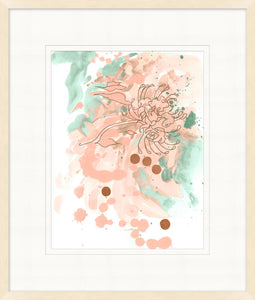 Abstract Flowers 2 Glass Framed Print