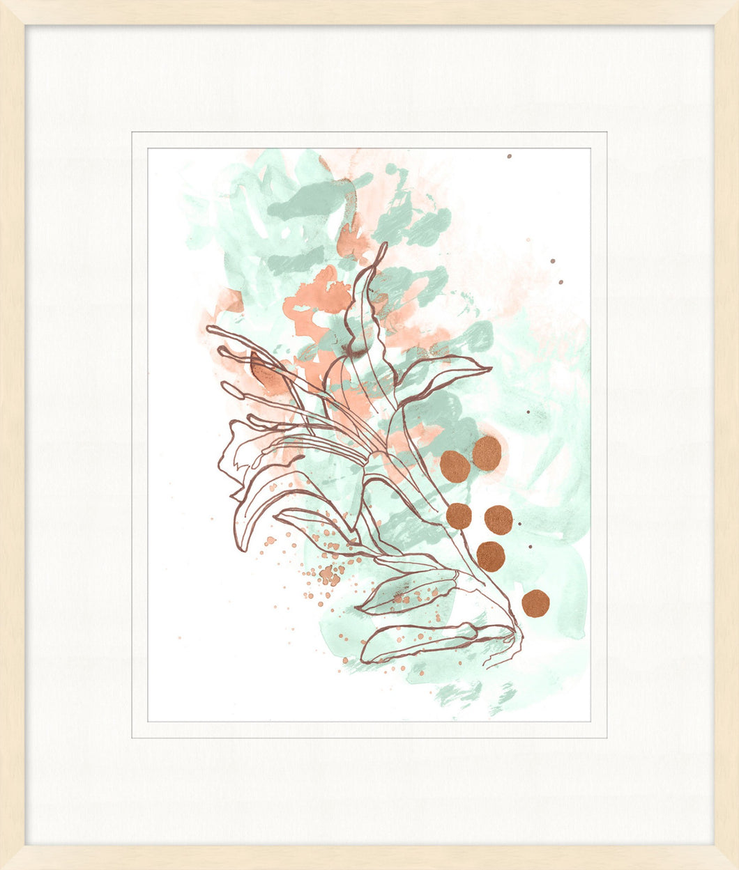 Abstract Flowers 4 Glass Framed Print