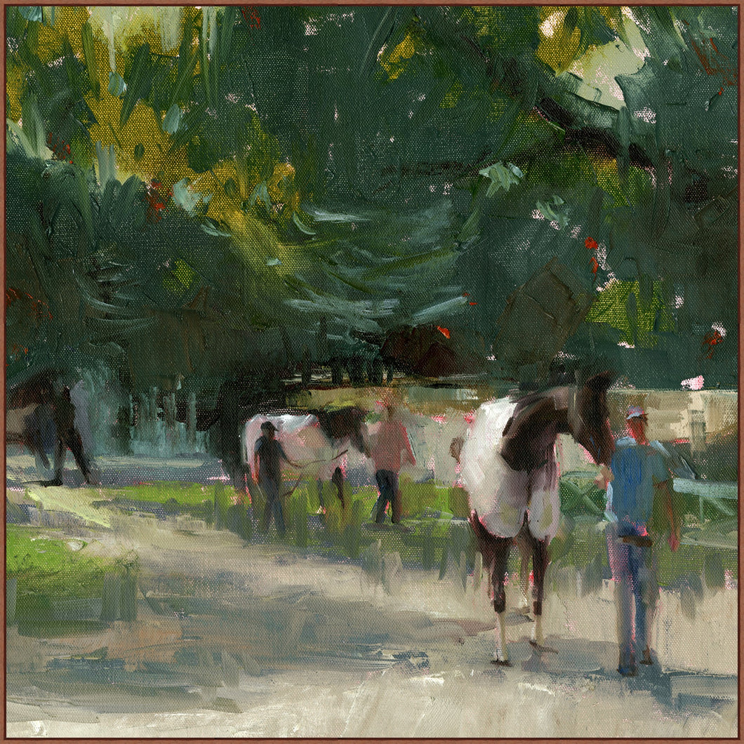The Paddock Framed Canvas