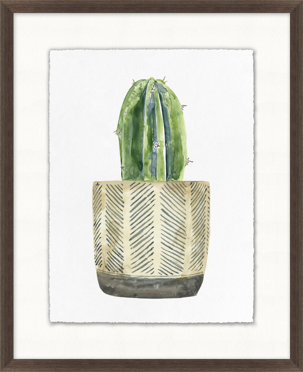 Decorated Succulent 8 Glass Framed Print