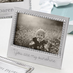 You Are My Sunshine Beaded Engraved 4x6 Frame by Mariposa