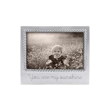 Load image into Gallery viewer, You Are My Sunshine Beaded Engraved 4x6 Frame by Mariposa