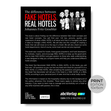 Laden Sie das Bild in den Galerie-Viewer, FAKE HOTELS - REAL HOTELS (Print) / The difference between FAKE HOTELS & REAL HOTELS by Johannes Fritz Groebler