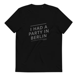 Berlin Party Unisex-T-Shirt aus Bio-Baumwolle
