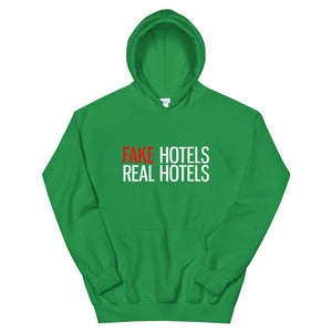 FAKE HOTELS - REAL HOTELS Unisex Hoodie - dark