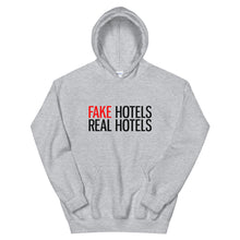 Laden Sie das Bild in den Galerie-Viewer, FAKE HOTELS - REAL HOTELS Unisex Hoodie