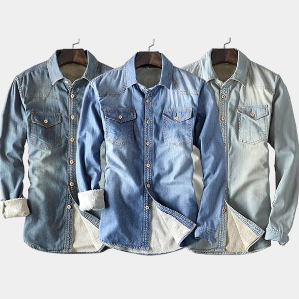 Pack of 3 Denim Casual Shirts For Mens