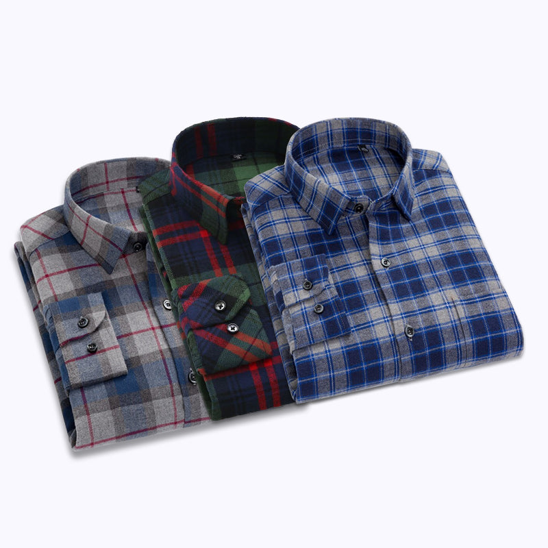 Men Style Business Casual Shirts Pack Of 03