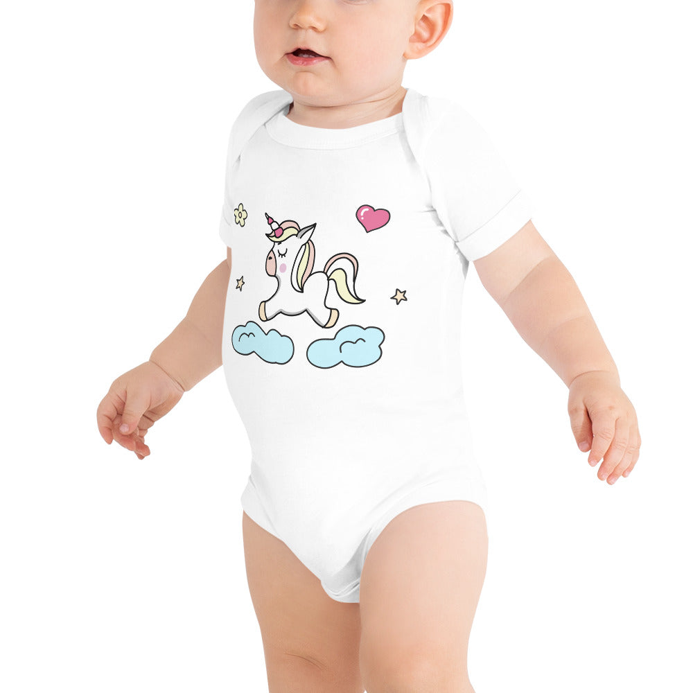 Infant Unicorn Jersey Bodysuit - Simply Baby