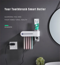 Load image into Gallery viewer, UV Light Toothbrush Holder & Sterilizer and Automatic Toothpaste Dispenser DelicateMe