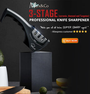 Precision Edge 3 Stage Professional Knife Sharpener DelicateMe