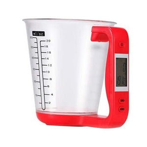 LCD Display All in One Measuring Cup DelicateMe Red