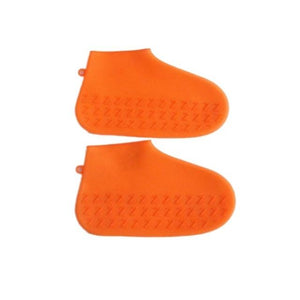 Waterproof Shoe Cover Silicone DelicateMe Orange kids M