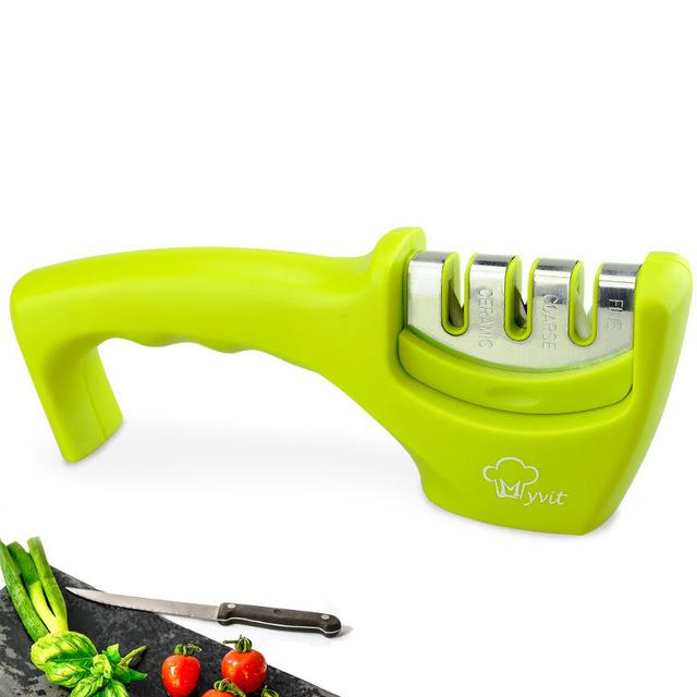 Precision Edge 3 Stage Professional Knife Sharpener DelicateMe Green