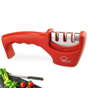 Precision Edge 3 Stage Professional Knife Sharpener DelicateMe Red 1