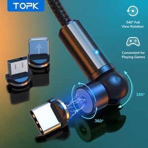 TOPK™ Magnetic Charging Cable 540°