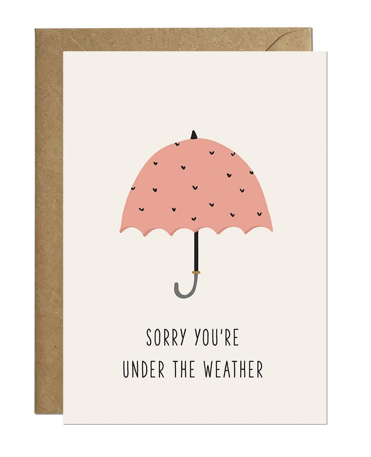 Sorry You're Under The Weather (pack of 6)
