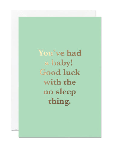 You've Had A Baby Card (Pack of 6)