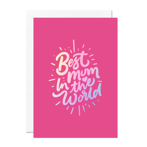 Best Mum In The World Mother's Day Card (Pack of 6)